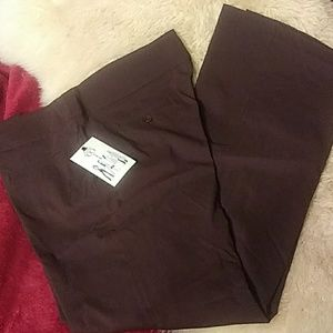 Nine &Co brown stretch dress pants sz16